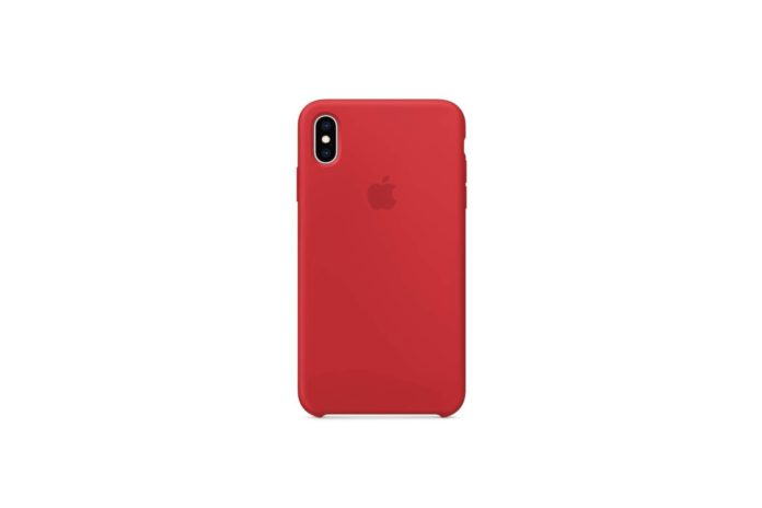 Apple Silicone Case (for iPhone Xs Max) - (Product) RED