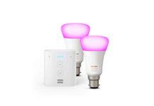 Echo Flex - Plug-in mini smart speaker with Alexa Bundle with Philips Hue White 2-pack A19 Smart Bulbs