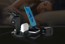 Elaime Fast Wireless Charger, 4 in 1 Wireless Charging Dock
