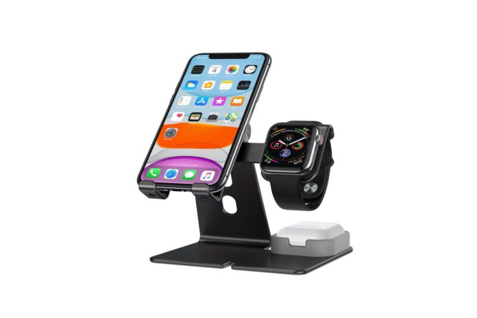 OMOTON Cell Phone Stand 3 in 1 Adjustable Charging Dock