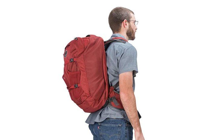 Osprey Packs Farpoint 40 Men's Travel Backpack Color-Jasper Red