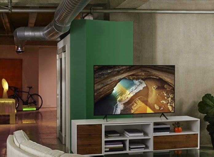 Samsung QN65Q60RAFXZA Flat 65-Inch QLED 4K Q60 Series Ultra HD Smart TV-min