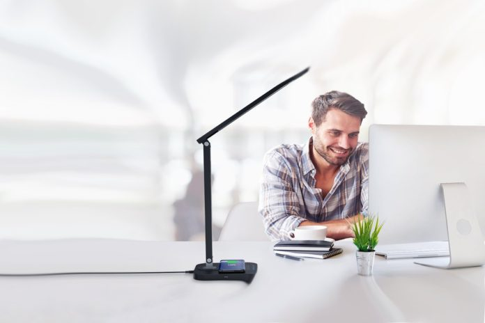 TaoTronics LED Desk Lamp with Qi-Enabled Wireless Fast Charger
