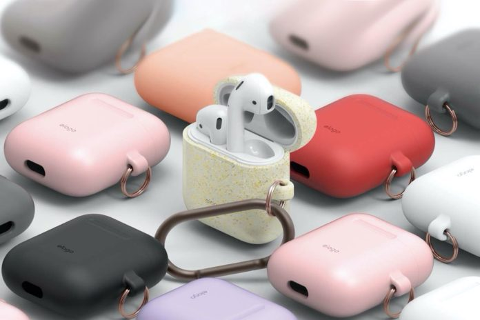 elago Silicone Case with Keychain Designed for Apple AirPods