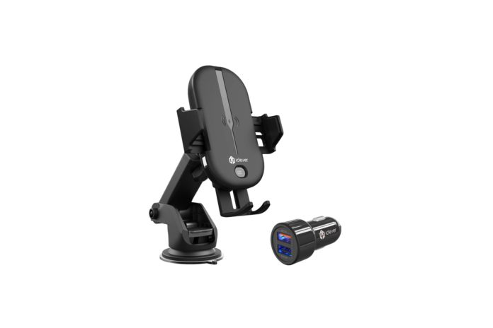 iClever Wireless Car Charger 10W:7.5W QI Fast Charging Car Mount with Automatic Clamp