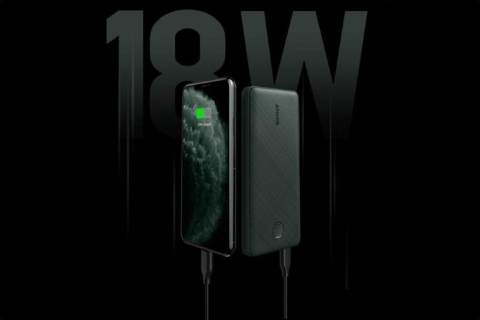 Anker PowerCore Slim 10000 PD Green, 10000mAh Portable Charger USB-C Power Delivery (18W) Power Bank