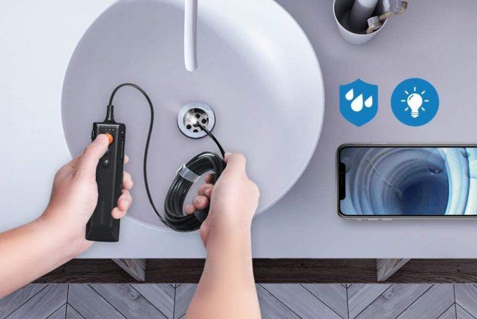 DEPSTECH Wireless Endoscope, 5.0MP Ultra-Thin HD Borescope, Zoomable Snake Inspection Camera