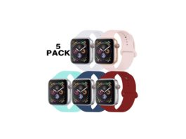GZ GZHISY Pack 5 Sport Bands Compatible for Apple Watch