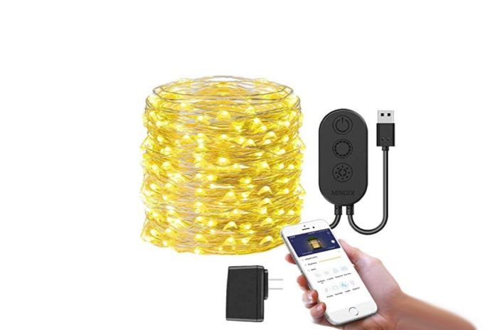 MINGER USB String Light, 33 Feet Fairy Lights Plug