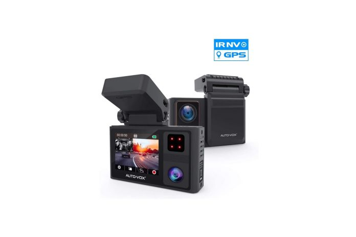 AUTO-VOX Dual Dash Cam Front and Inside