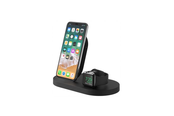 Belkin Boost Up Wireless Charging Dock (Apple Charging Station for Iphone + Apple Watch + USB Port)