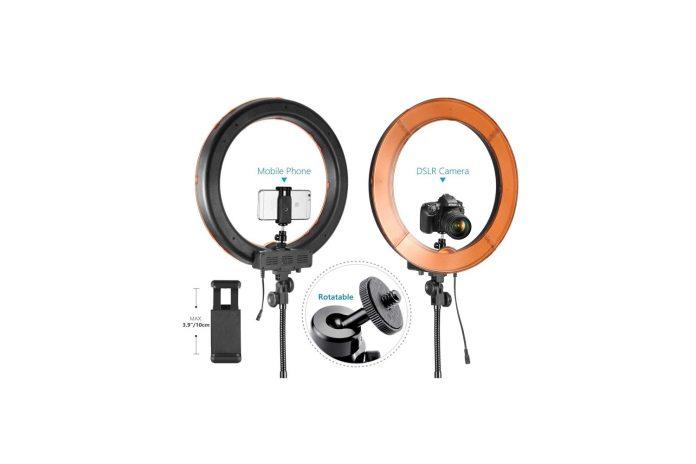 Neewer Ring Light Kit-18:48cm Outer 55W 5500K Dimmable LED Ring Light