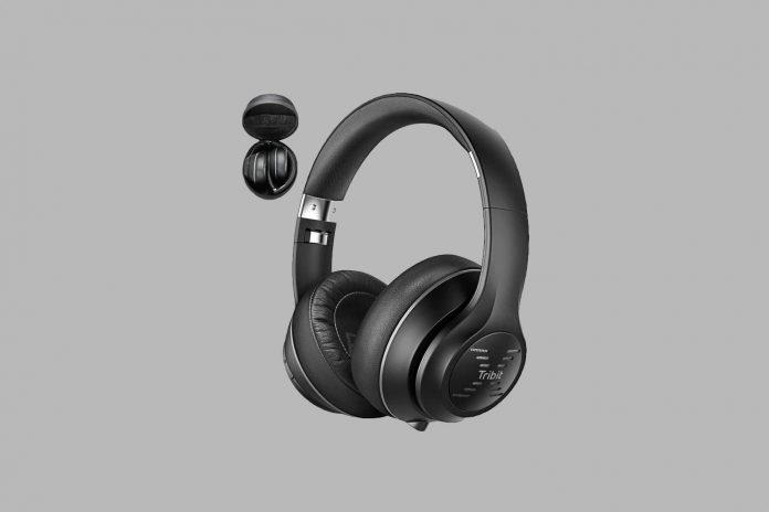 Tribit XFree Tune Bluetooth Headphones, [40h Playtime] Bluetooth Headphones