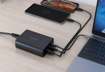AUKEY 72W 3-Port Fast Charge