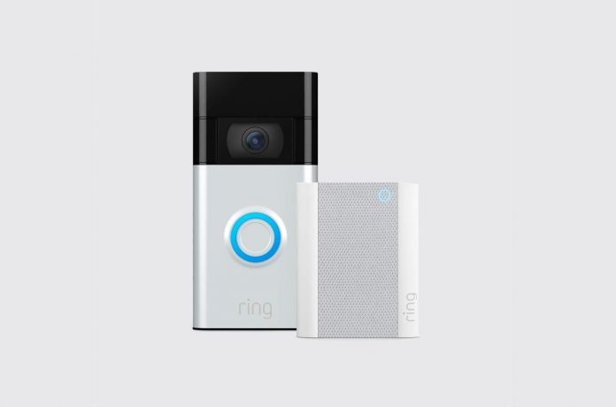 All-new Ring Video Doorbell – Satin Nickel with Ring Chime (2nd Gen)