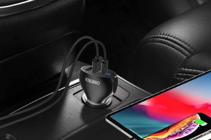 CHOETECH USB C Car Charger