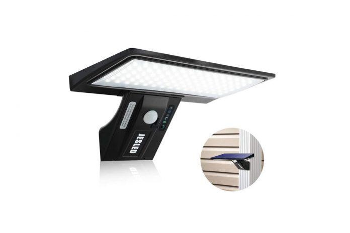 JESLED Solar Flood Lights Outdoor Motion Sensor
