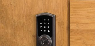 Kwikset 99190-002 Premis Traditional Arched Touchscreen Keyless Entry Smart Lock-min