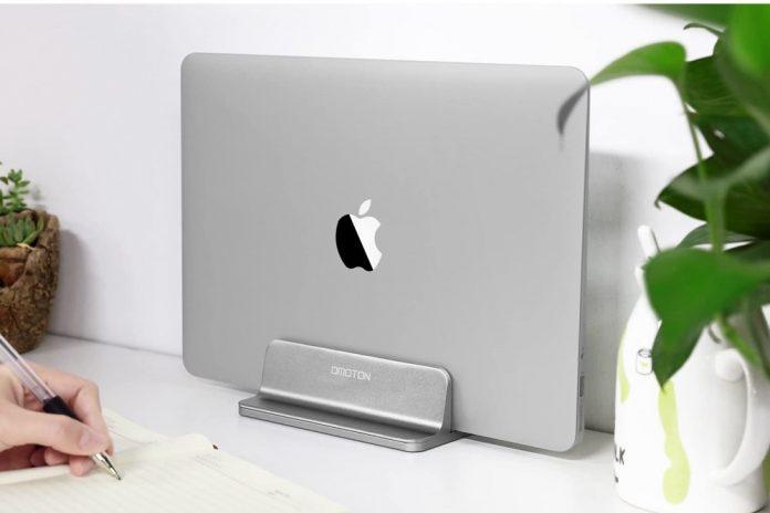 OMOTON Desktop Aluminum MacBook Stand with Adjustable Dock