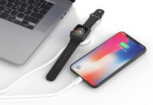 UOEOS 2 in 1 Wireless Charger for iWatch & iPhone