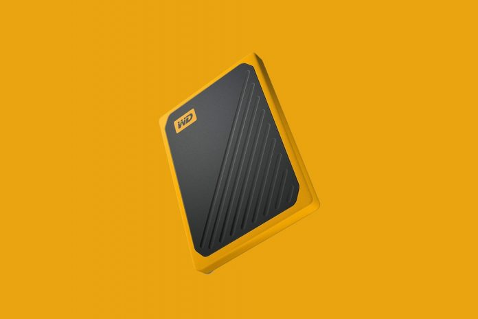 WD 1TB My Passport Go SSD Amber Portable External Storage
