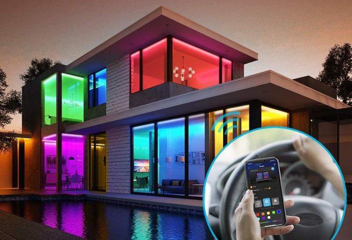 65.6ft Alexa LED Strip Lights, Govee Smart WiFi RGB Rope Light