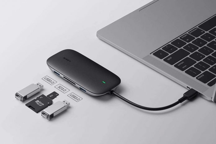 AUKEY 8-in-1 Type C Adapter with Ethernet Port