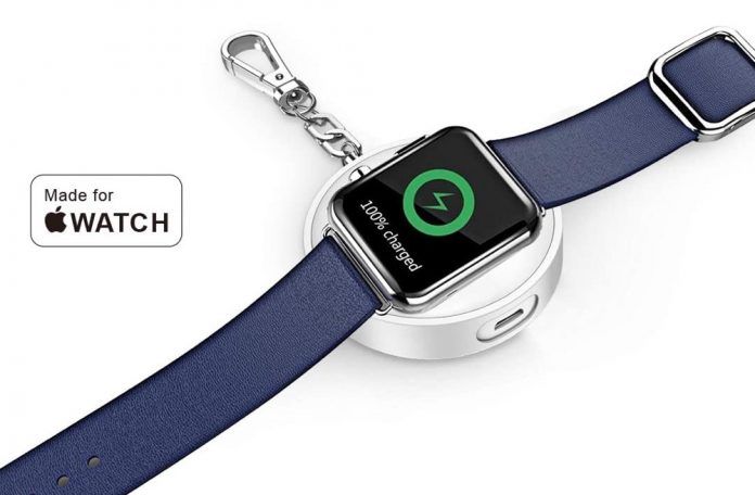 CHOETECH Apple Watch Charger, [MFi Certified] 900mAh Portable Apple Watch Charger Keychain