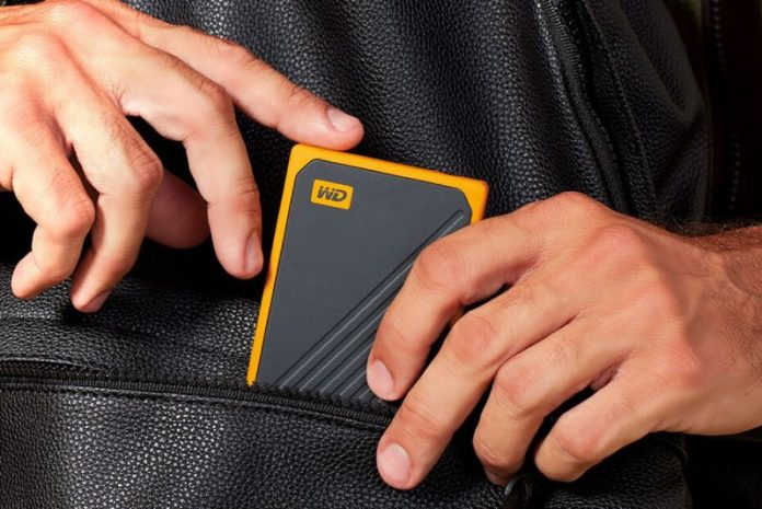 WD 500GB My Passport Go Cobalt SSD Portable External Storage