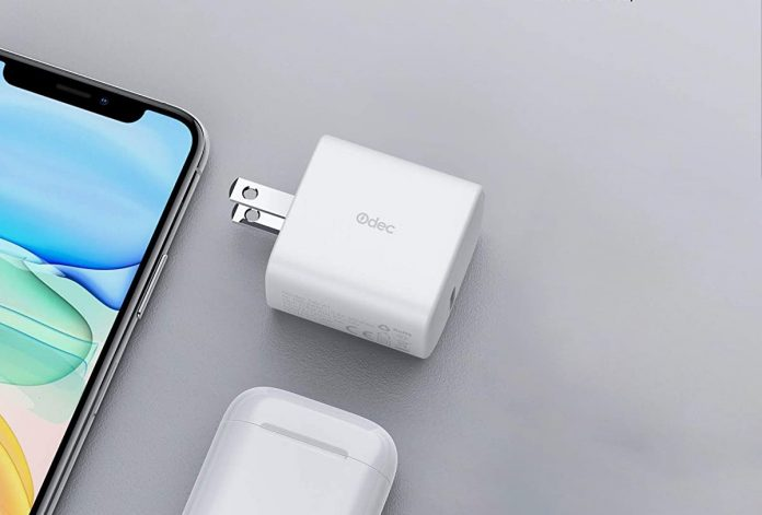 18W Odec iPhone Fast Charger with Foldable Plug