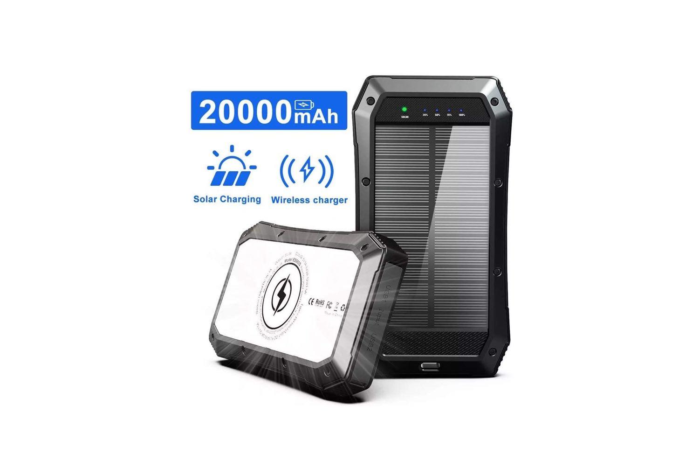 20000mAh Wireless Portable Solar Power Bank