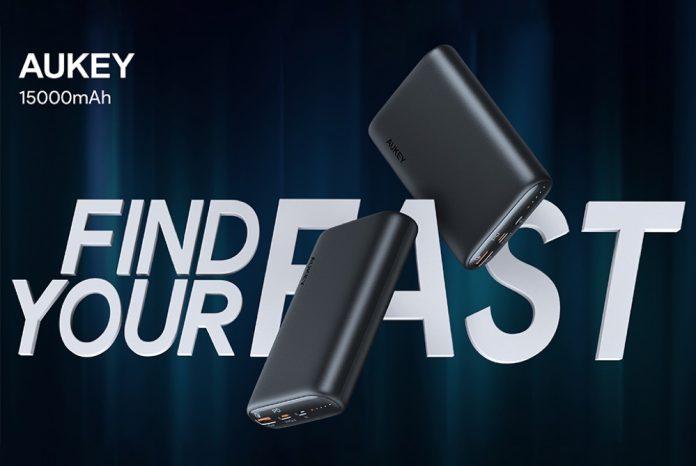 AUKEY 15000mAh USB C Power Bank