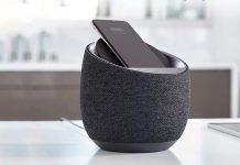 Belkin SoundForm Elite Hi-Fi Smart Speaker + Wireless Charger-min