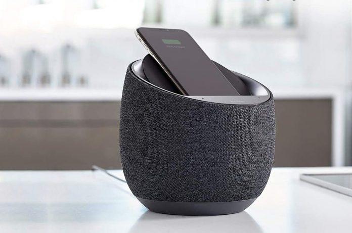 Belkin SoundForm Elite Hi-Fi Smart Speaker + Wireless Charger-min