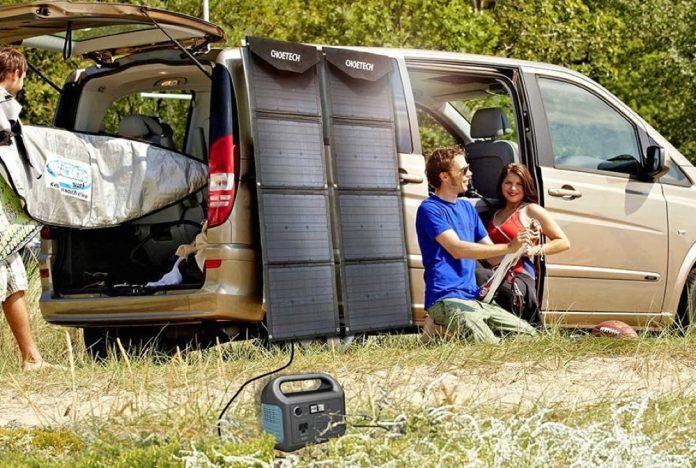 CHOETECH Portable Solar Panel Charger-min