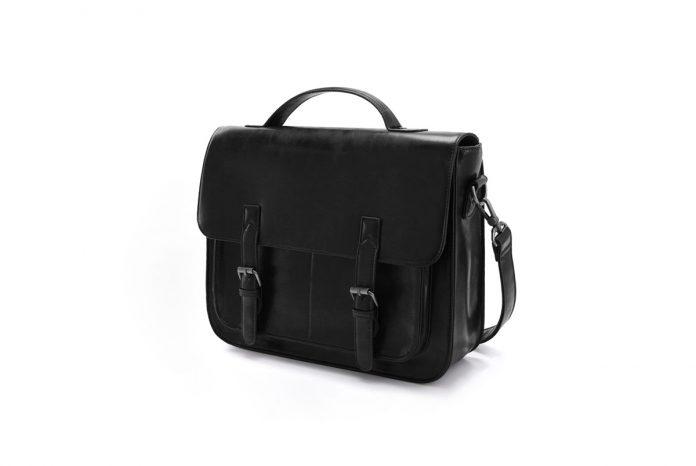 ECOSUSI Messenger Bag PU Leather Laptop Briefcase