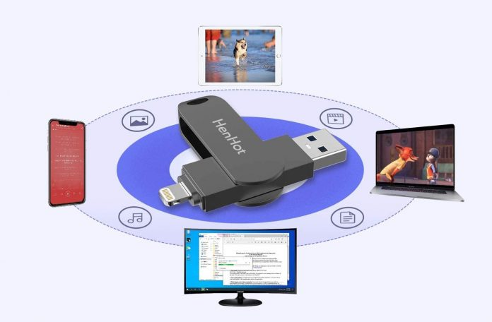Henhot 128GB USB 3.0 iPhone Photo Stick