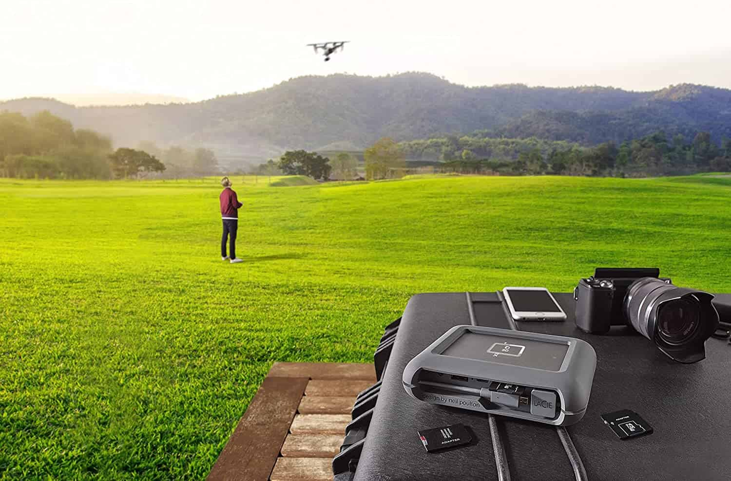 LaCie DJI Copilot BOSS Computer-free In-field Direct Backup and Power Bank -min