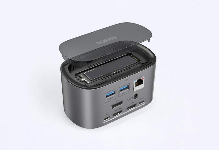 RAYROW USB-C 4K Triple Display Docking Station