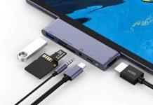 RAYROW USB C Hub for iPad Pro 2018 2020 iPad Air 4