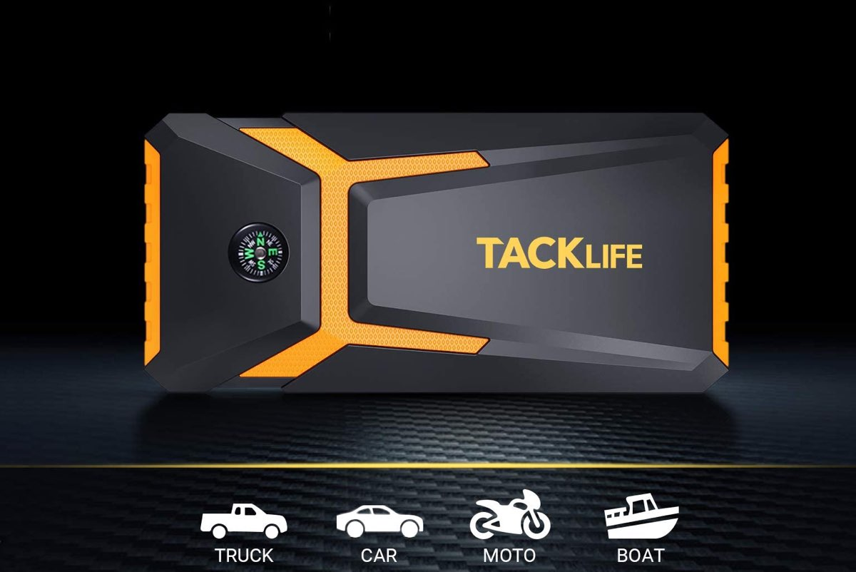 TACKLIFE T8-Newer Model 800A Peak 18000mAh Car Jump Starter with LCD Display