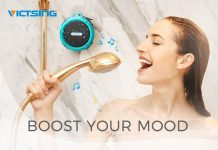 VicTsing C6 Waterproof Bluetooth Speaker with 6H Playtime