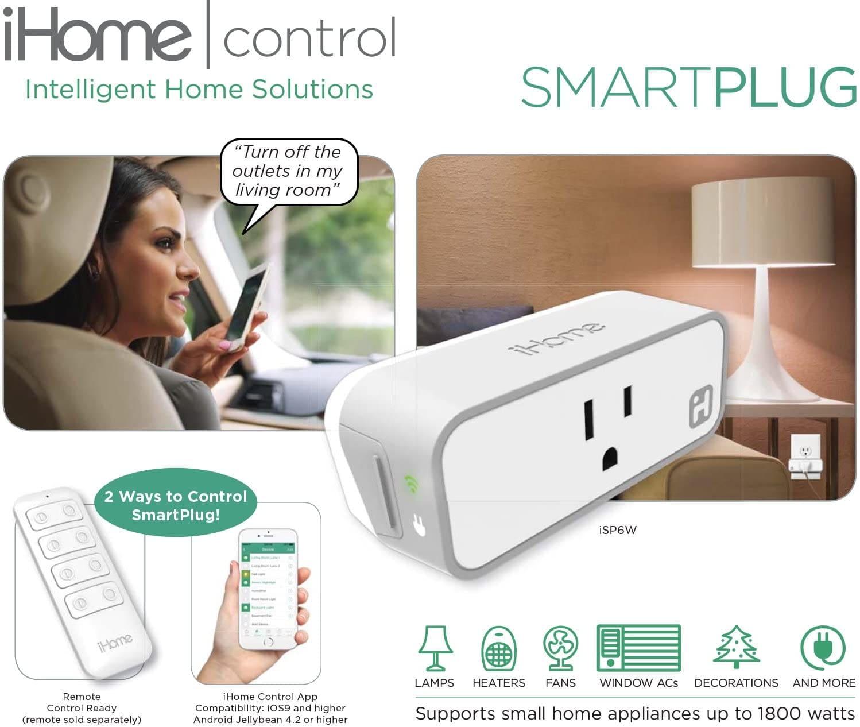 iHome ISP6X Wi-FI Smart Plug-min