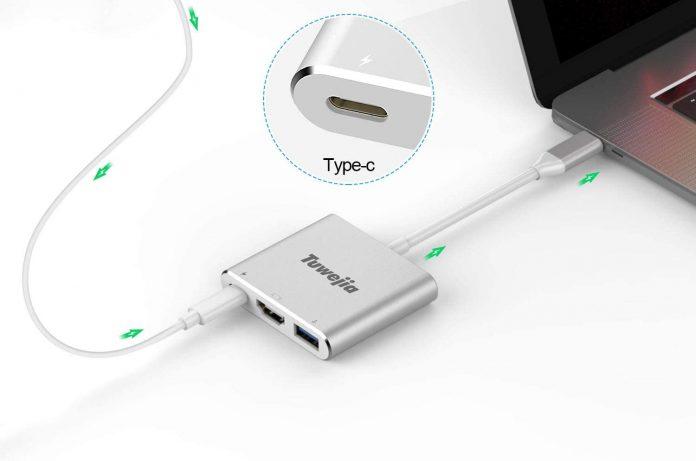 wejia USB 3.1 Gen 1 Thumderbolt 3 to HDMI 4K Video Converter:USB 3.0 hub