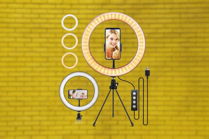 10.2 Selfie Ring Light with Tripod Stand