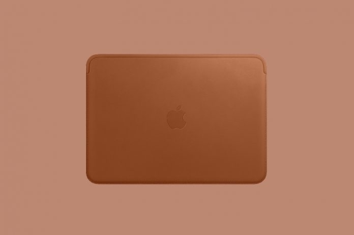 Apple Leather Sleeve (for 12-inch MacBook) - Black