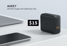 Aukey 60W USB-C charger