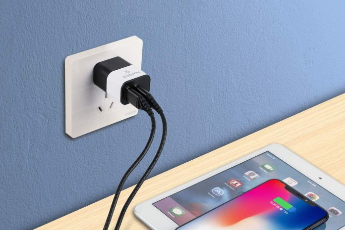 CABEPOW Dual 2 Port USB Charger Adapter,-min