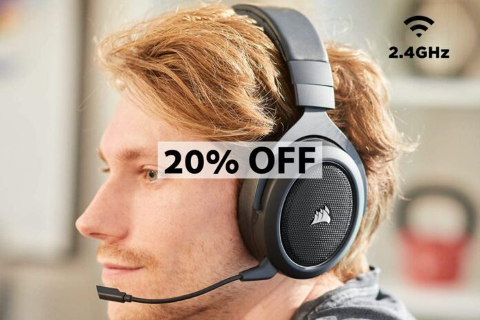 Corsair HS70 Pro Wireless Gaming Headset - 7.1 Surround Sound Headphones