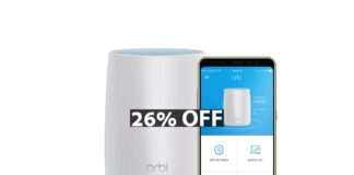 NETGEAR Orbi Tri-band Whole Home Mesh WiFi System with 3Gbps Speed (RBK50)